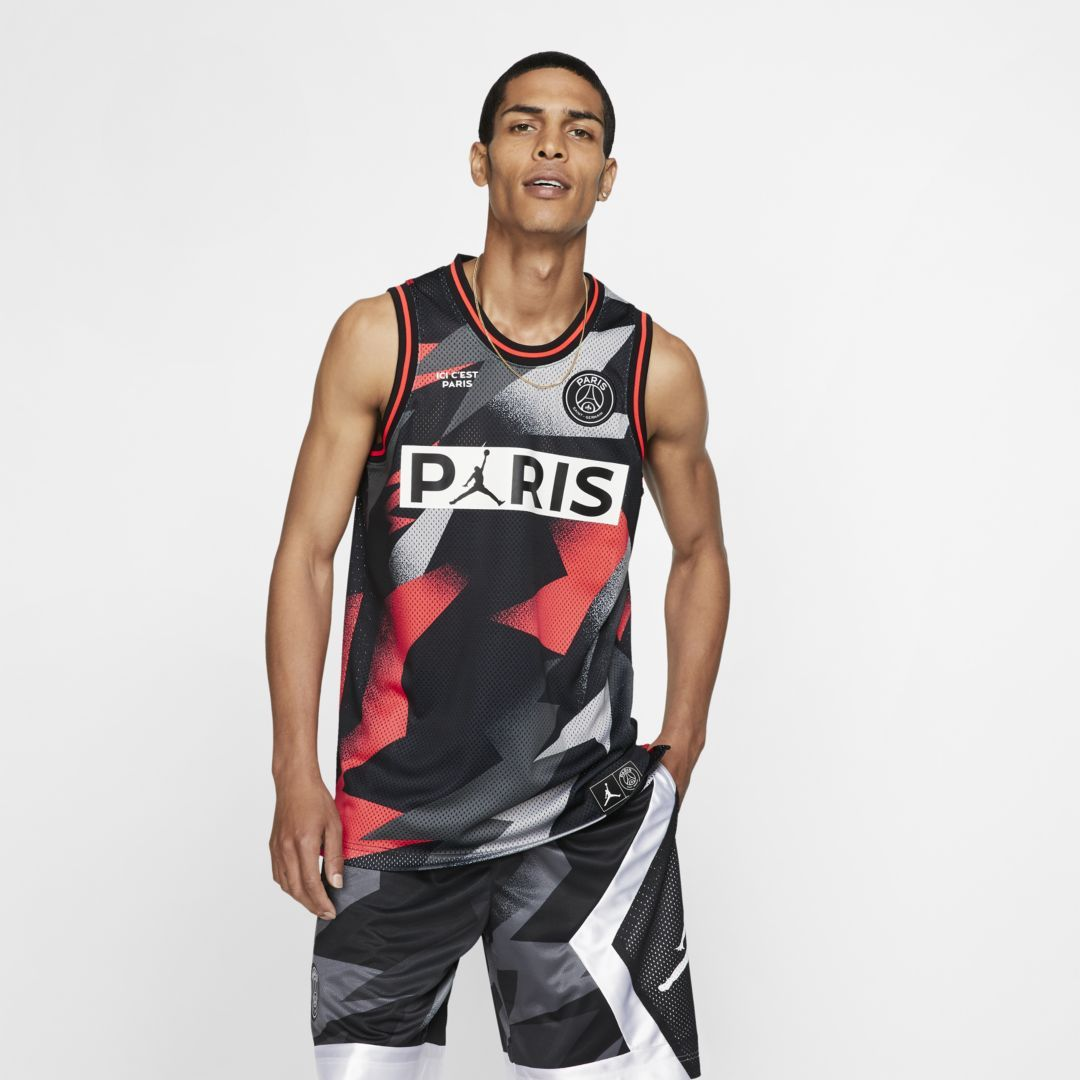 Jordan Paris Saint Germain Men S Mesh Jersey Black Di 2020