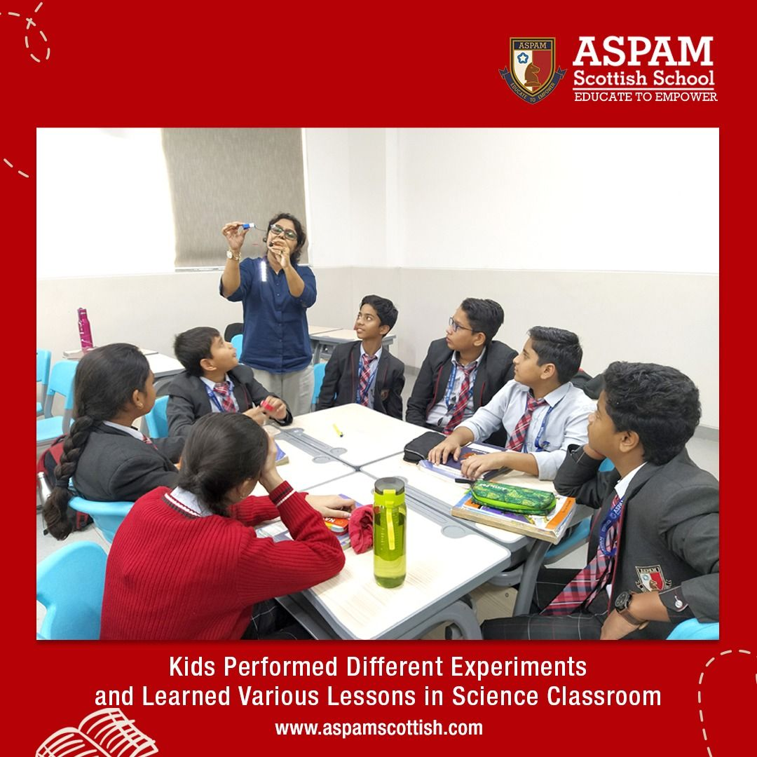 ASPAM FEEDS At Best School in Noida, students get into experiential learning in science class when