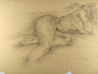 """Reclining Nude"" By Nicolai Fechin"
