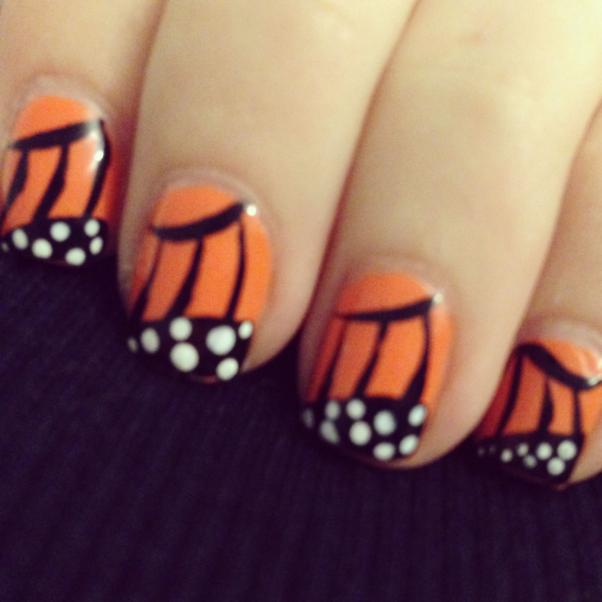 Monarch butterfly fall nail art Instagram: @zyranail | Nails ...