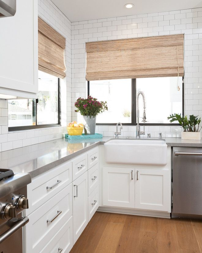 White Kitchen Cabinets And Countertops: Backsplash Kitchen White