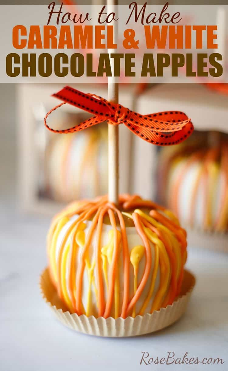How to Make Gourmet Caramel and White Chocolate Apples #caramelapples
