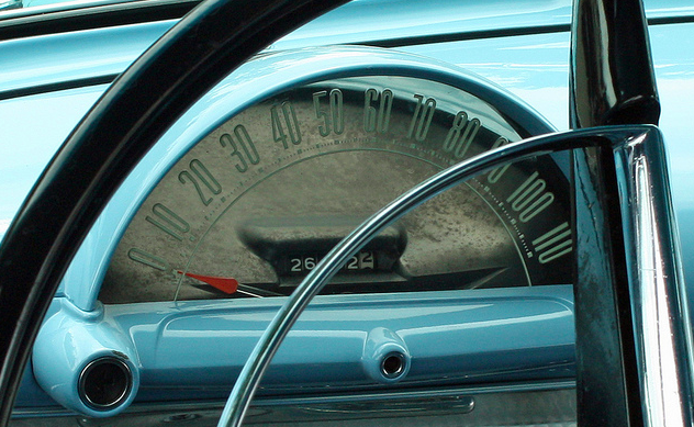 Ford Customline Door Sedan Classic Car Dashboard Desgin