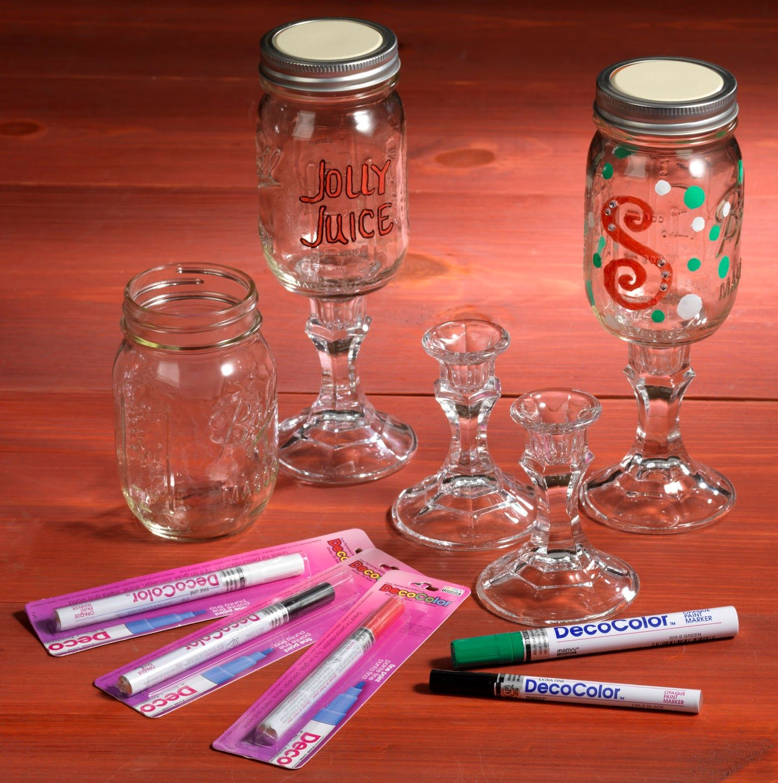 redneck wine glasses #christmas #glass candle stick #e6000