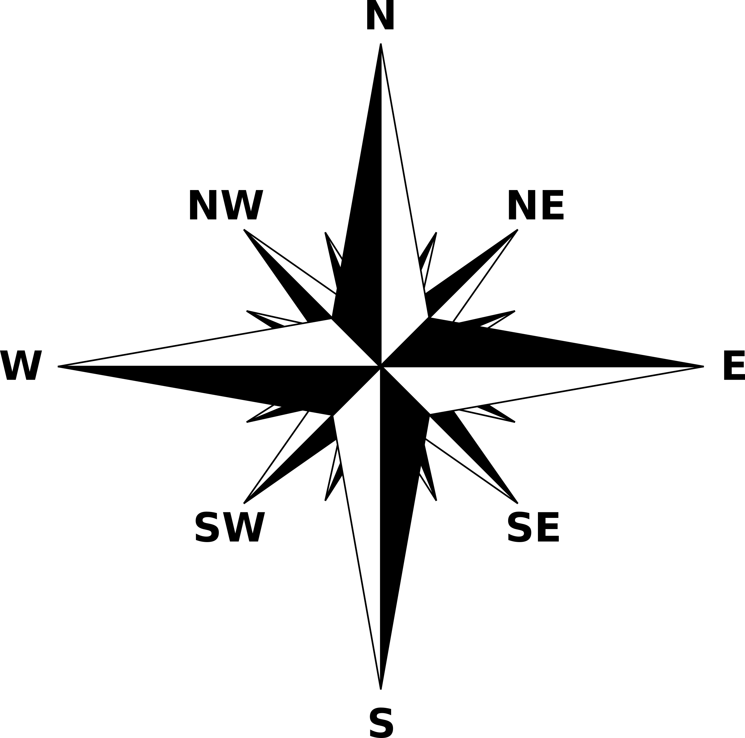 Compass Rose 2 By Firkin A Simple Compass Rose On