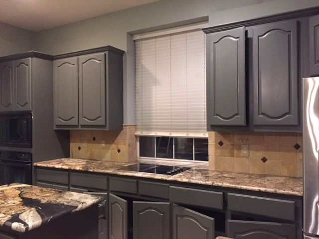 Best Grizzle Gray Cabinets With Cathedral Doors In 2019 Grey 640 x 480