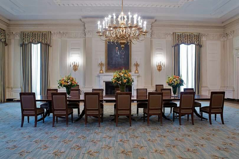 The White House The State Dining Room Obama Administration 2015 Dining House Home Decor