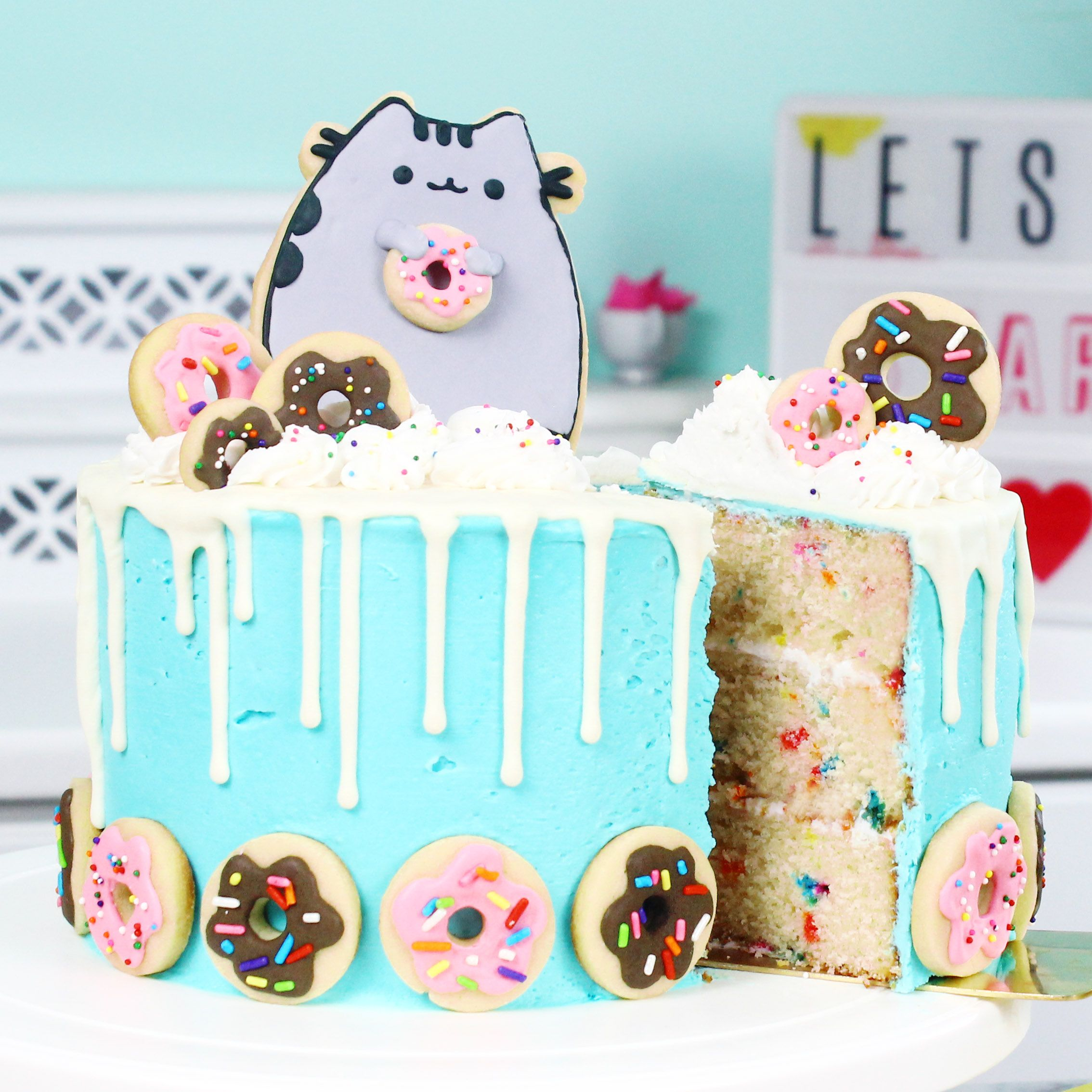 Birthday Party Cat Ears: How To Make A Pusheen Donut Cake!