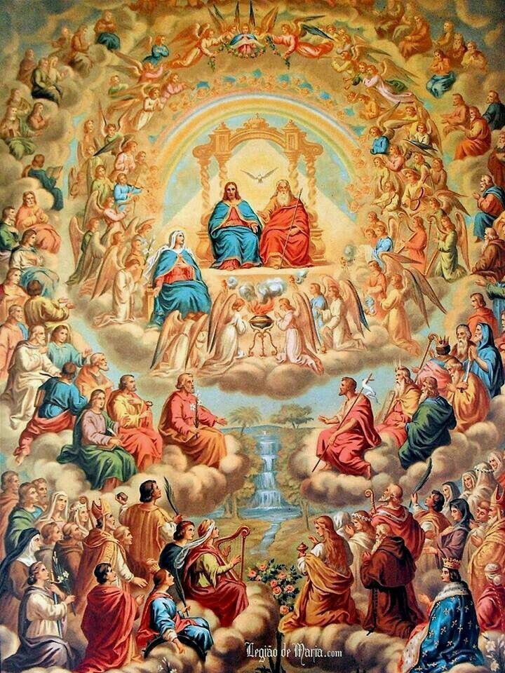 La Comunión de todos los Santos. | Arte católico, Arte cristiano ...