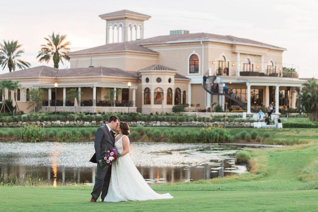 Romantic Purple And White Sarasota Ballroom Wedding Ranch White