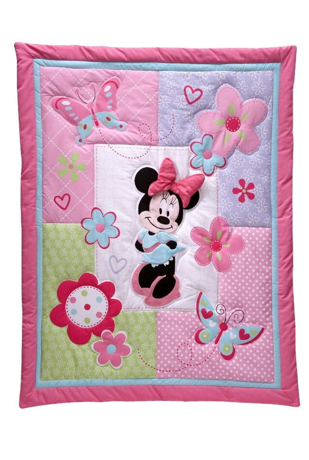 Minnie Mouse Quilted Blanket Mickey Mouse Quilt Baby Girl Quilts Disney Quilt