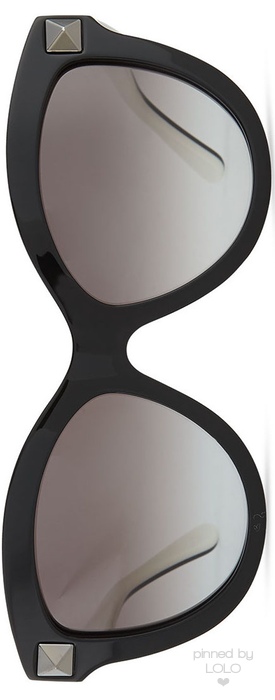 c7b11005b92 Valentino Rockstud-Front Cat-Eye Sunglasses