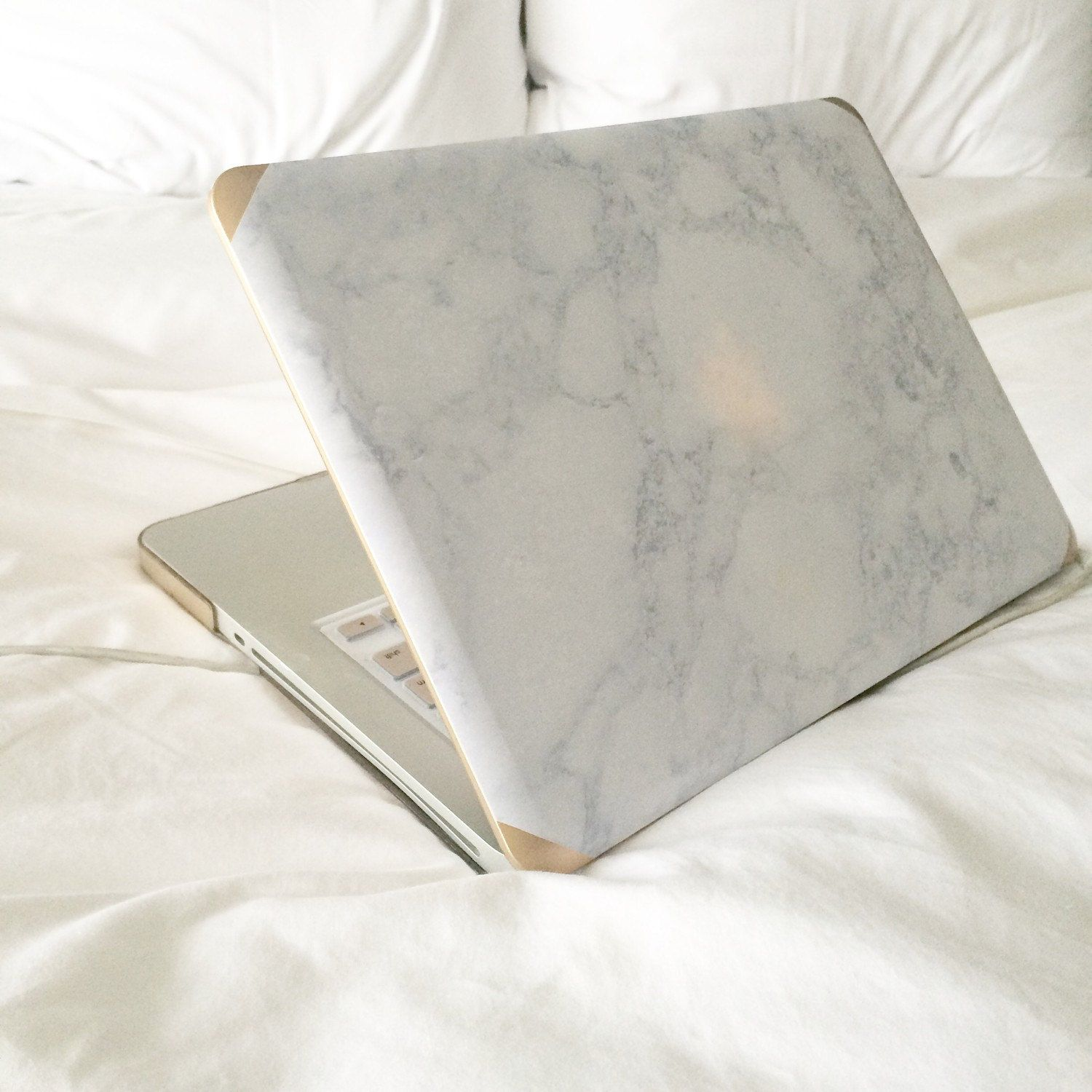Janetgwendesigns Marble And Gold Macbook Pro 13 15 Non Retina Case Grey