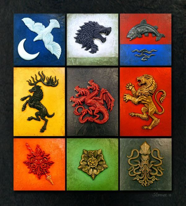 Beautiful Game Of Thrones House Sigil Sculptures House Sigil