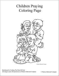 Children Praying Coloring Page   Prière   Pinterest   Child, Color ...
