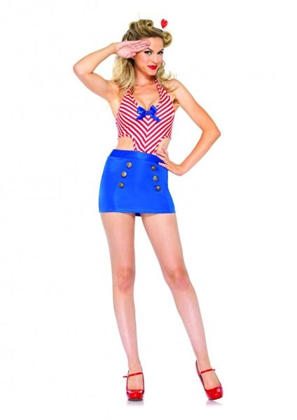 Sailor Girl Pin Up Photoshoot Clothing Costume