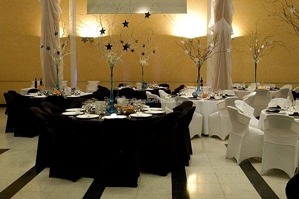 Decoracion de salones de fiesta decoraci n pinterest - Salones en blanco y negro ...