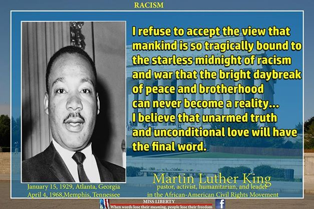 Martin Luther King on racism