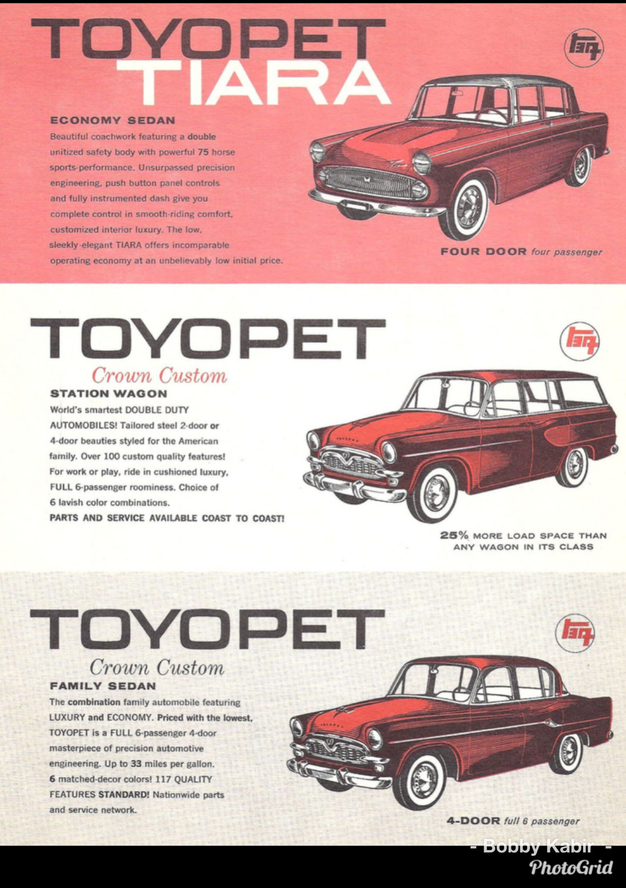 Early 60 S Toyopet Tiara Models By John Lloyd On Flickr Classic