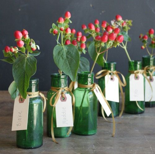 Beautiful Green Bottles set of 2 by elsiegreenhh on Etsy, $39.00