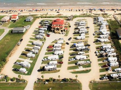 Near Galveston Our Beachfront Rv Park Resort Is Located In Surfside Beach Texas All Sites Are Full Service Water Sewer A Rv Vacation Rv Parks Park Resorts