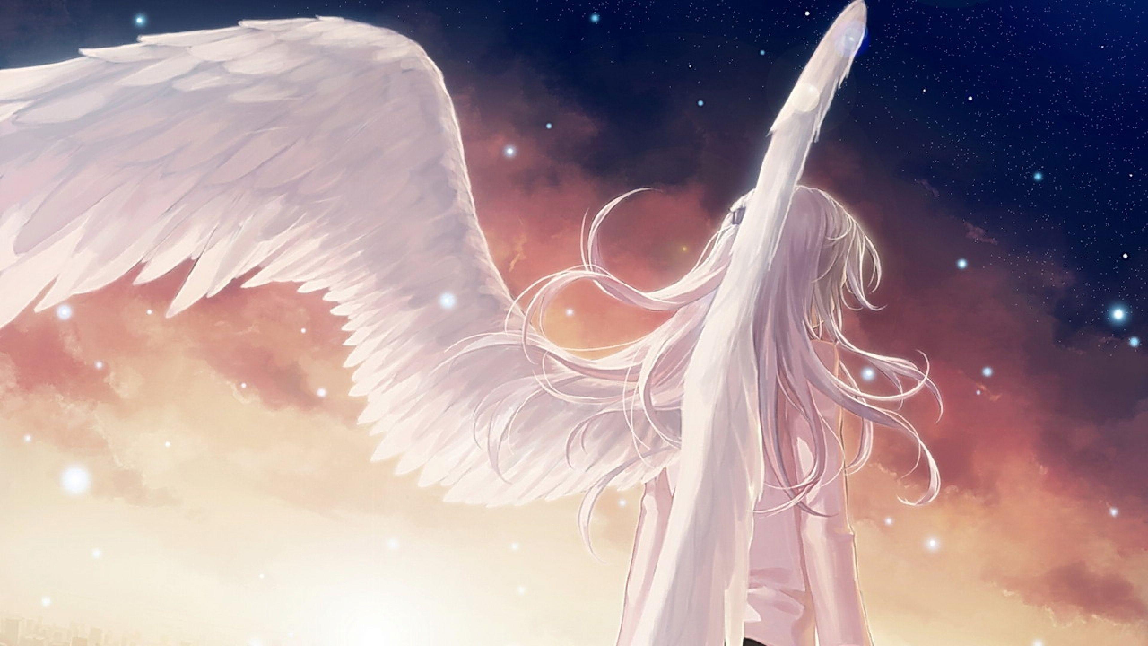 Download wallpaper 3840x2160 angel beats girl wings - Angel girl wallpaper ...