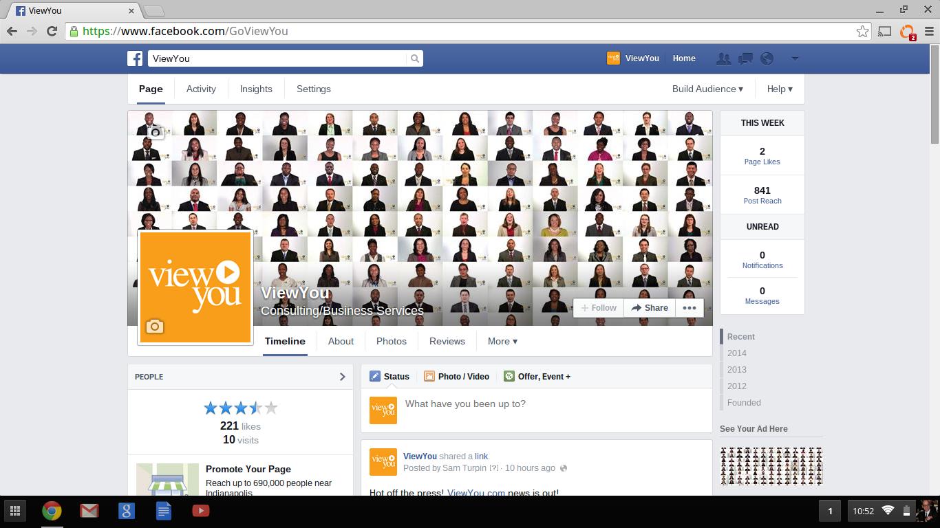 Follow Us On Facebook Video Resume Goviewyou Viewyounow