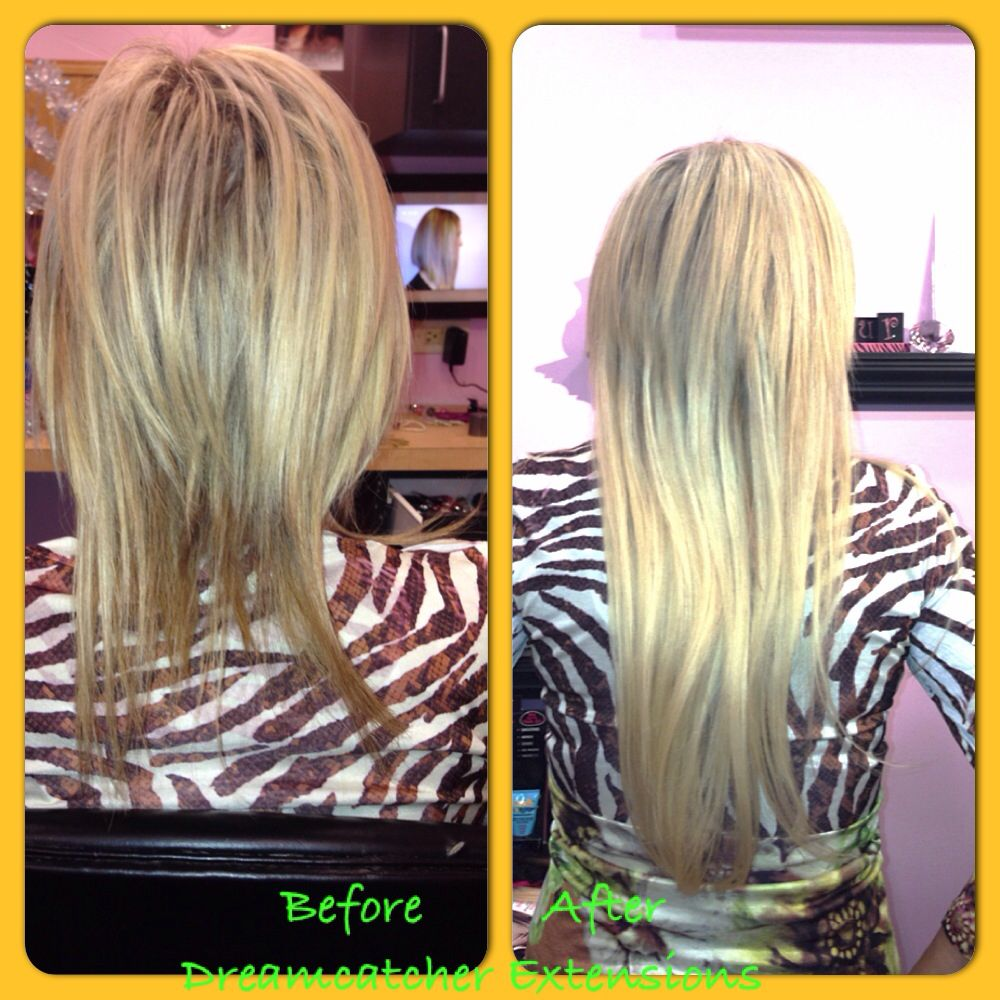 Dream Catcher Extensions Custom Full Highlight W Keratin Expressthen An Before And After Inspiration Design