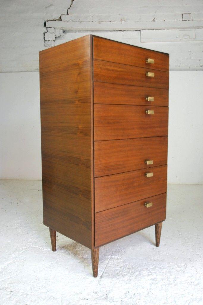 Best 1950S 60S Teak Tallboy Mid Century Modern Furniture 400 x 300