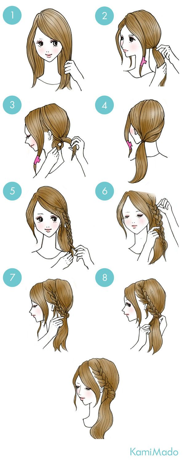 Coleta con trensa pelo pinterest braid hair hair style and
