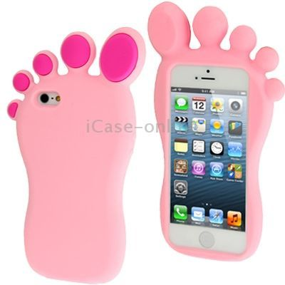 Online inquire 3d footed shape silicon case for iphone 5 for Case 3d online