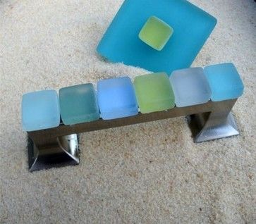 Beach Glass Knobs Robe Hooks tropical pulls other metro by