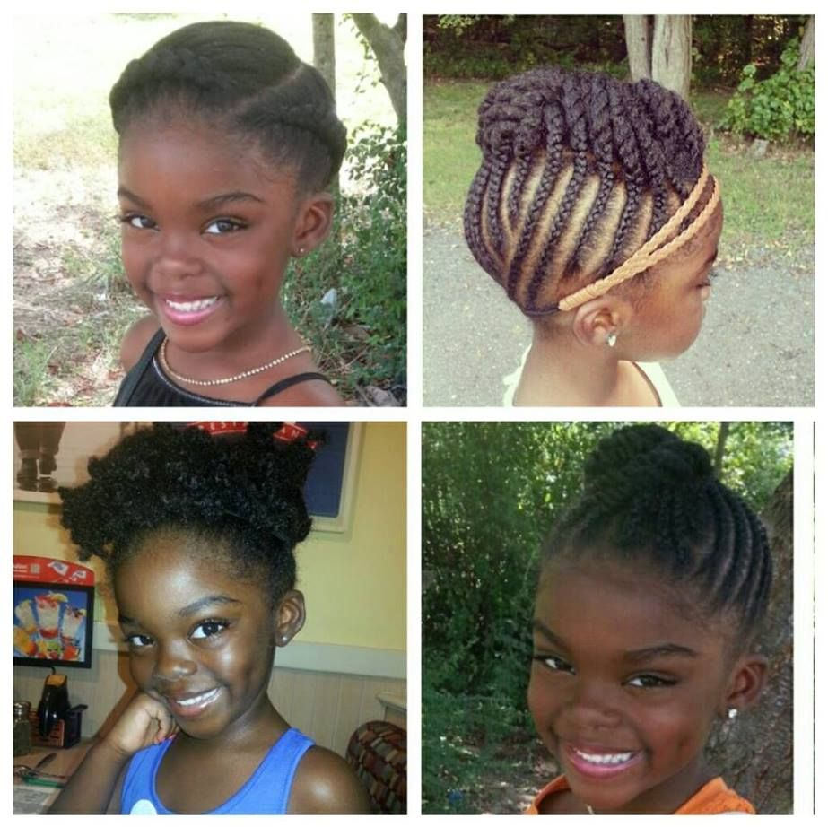 natural hair for kids |  page with many creative ideas on