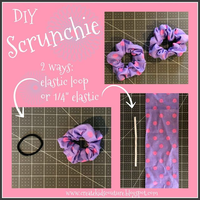 Create Kids Couture: DIY Hair Scrunchies #scrunchiesdiy