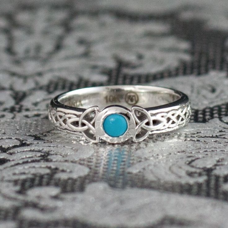 Pop Perfect Ring Diamontrigue Jewelry: A Perfect Turquoise Center Stone Is The Pop Of Blue-green