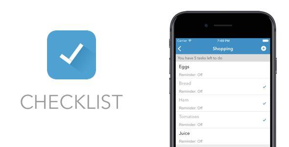 Checklist - A Minimalist Reminders App - Swift 4 / Xcode 10 / IOS 12