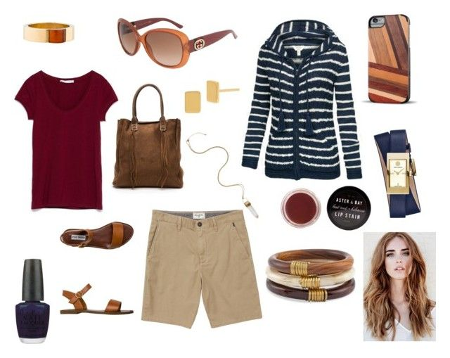 """Yacht club natural"" by lauren-alexis-k on Polyvore featuring Billabong, Steve Madden, Chico's, Tory Burch, Diane Von Furstenberg, Gucci, OPI, Recover, women's clothing and women"