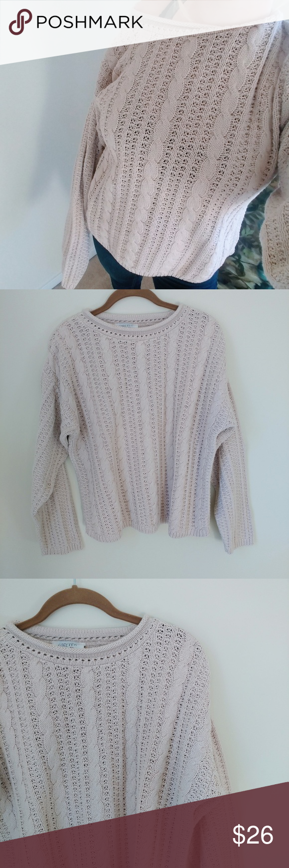 Oversized Cable Knit Sweater | Cable knit sweaters, Chunky cable ...
