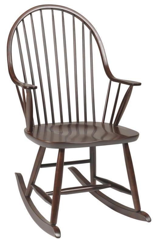 Amish New England Windsor Rocking Chair - Amish New England Windsor Rocking Chair Amish Rocking Chairs