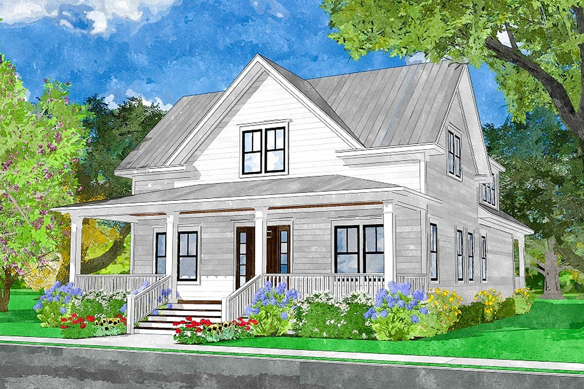 Plan 15235nc Classic Country House Plan With Rear Facing Double Garage Country House Plan House Plans Dream House Decor