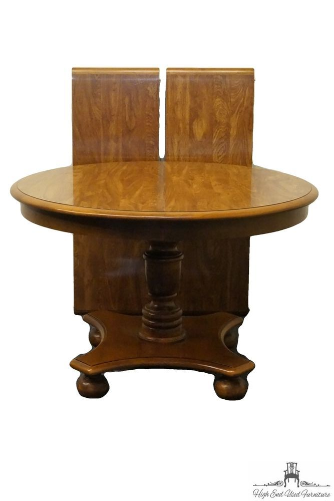 Ethan Allen Heirloom Nutmeg Maple 44 Round Pedestal Table 10