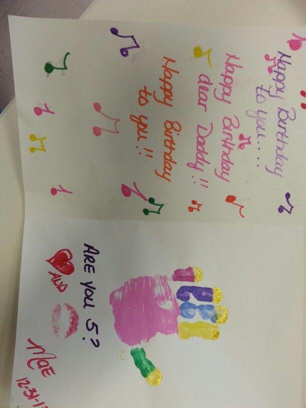Birthday cake handprint...