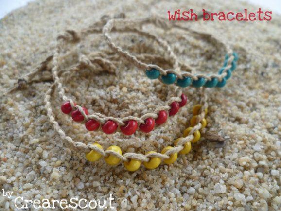 do it yourself bracelet twine beads