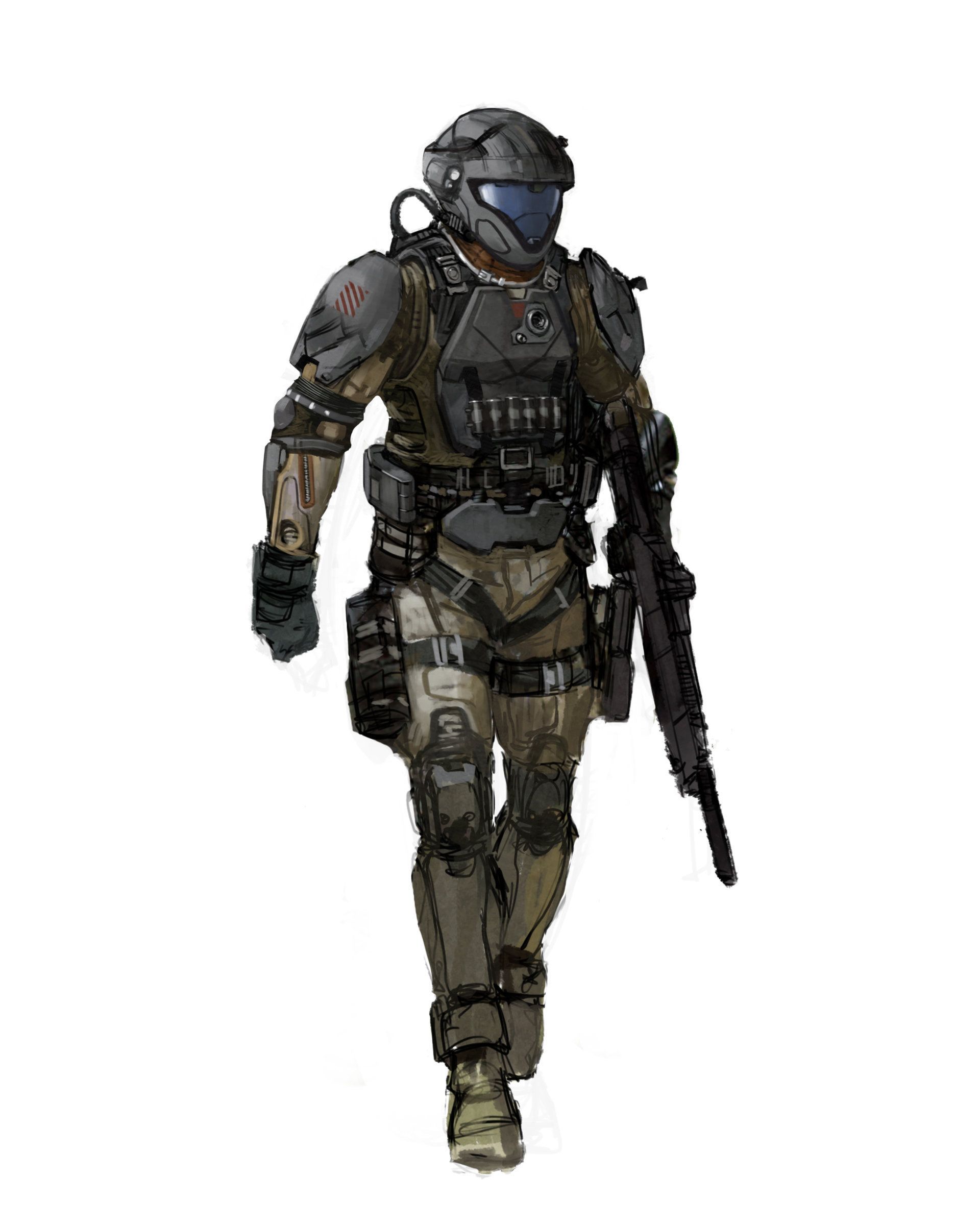 Artstation halo 3 odst iterations isaac hannaford sci fi 2 in 2019 halo armor halo 3 - Halo odst images ...
