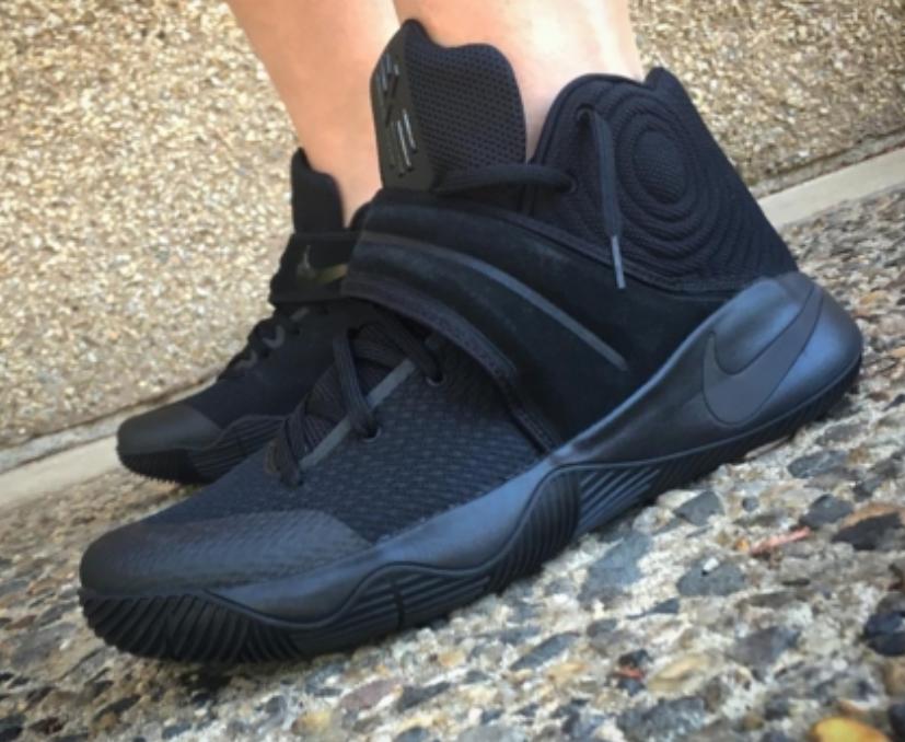 The Nike Kyrie 2 Triple Black Drops