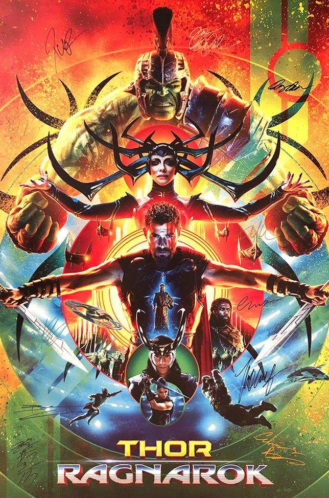 Thor Ragnarok signed movie poster