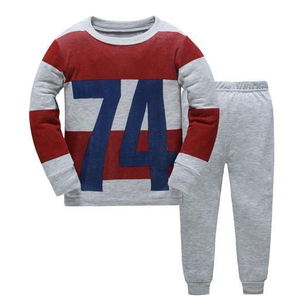 Kids Boys Girls Cartoon Pjs Pyjamas Sleepwear Sweatshirt Nightwear Outfits Set
