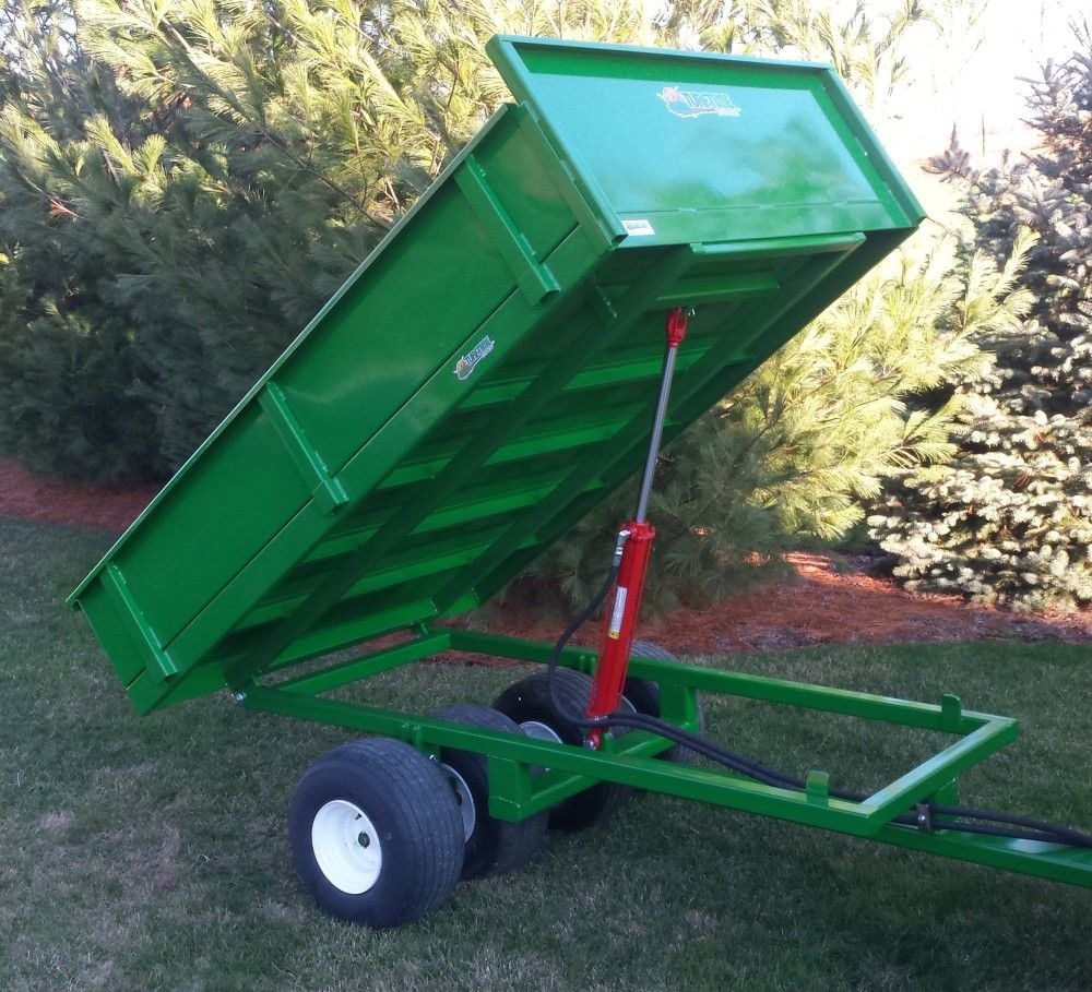 ATV Dump Trailer with side by side walking axels Atv