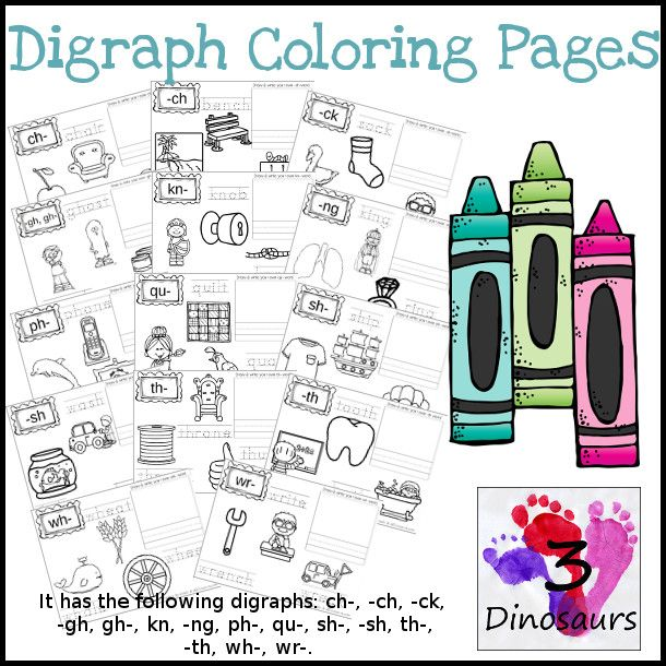 Digraph Coloring Pages Ch Ch Ck Gh Phonics Blends