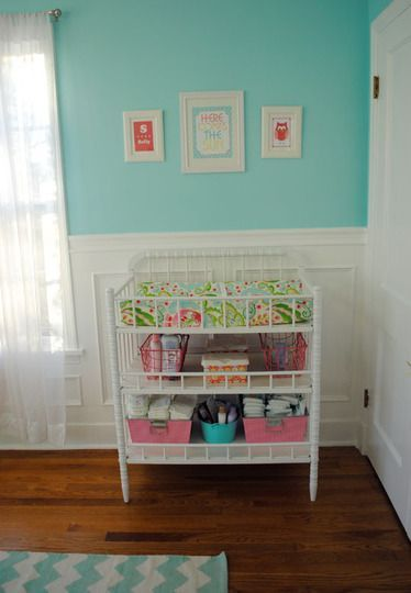 Colorful Crib idea for baby boys changing table...different colors thoughidea for baby boys changing table...different colors though